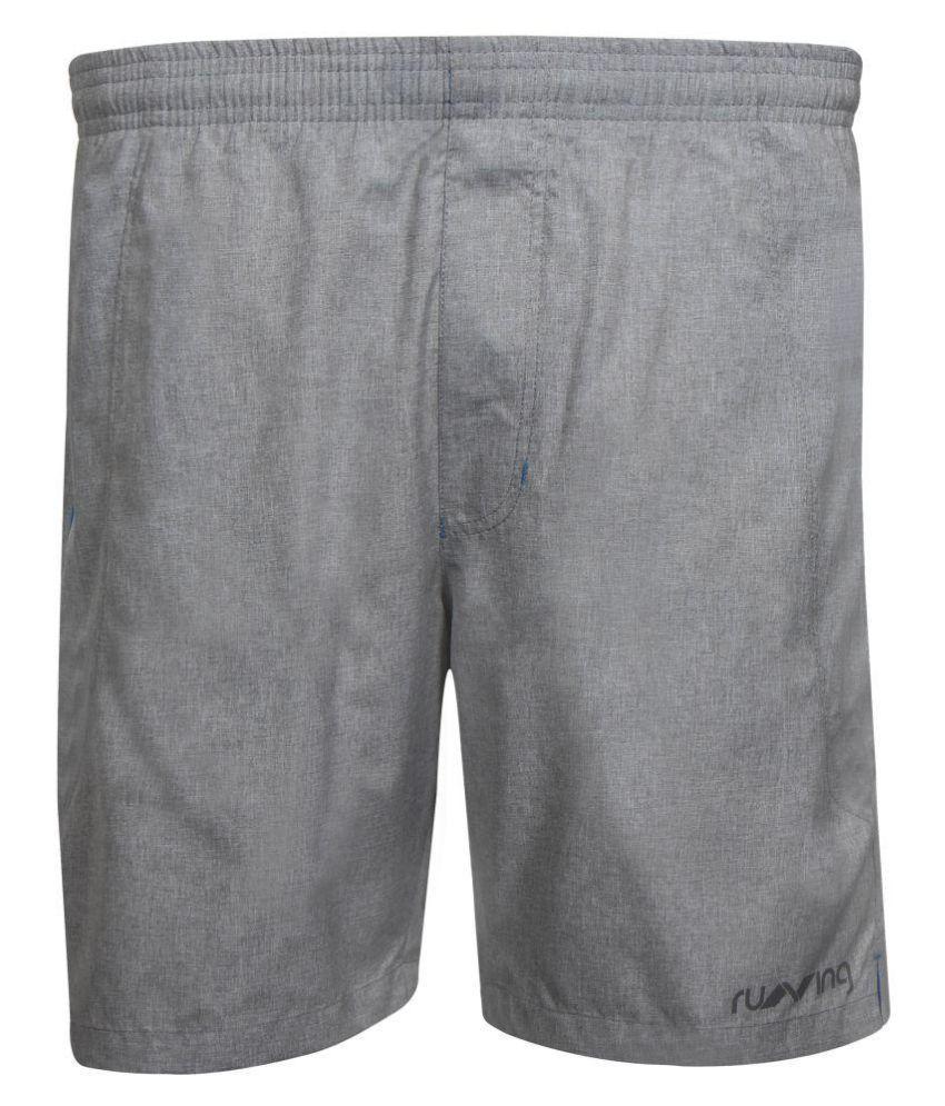Nivia Grey Polyester Running Shorts-2312M01