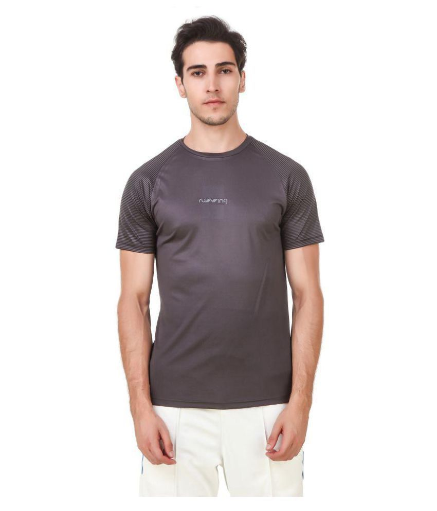 Nivia Grey Polyester T-Shirt-1865XL-3