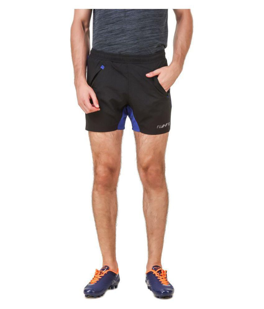 Nivia Black Polyester Fitness Shorts-2311XXL-3