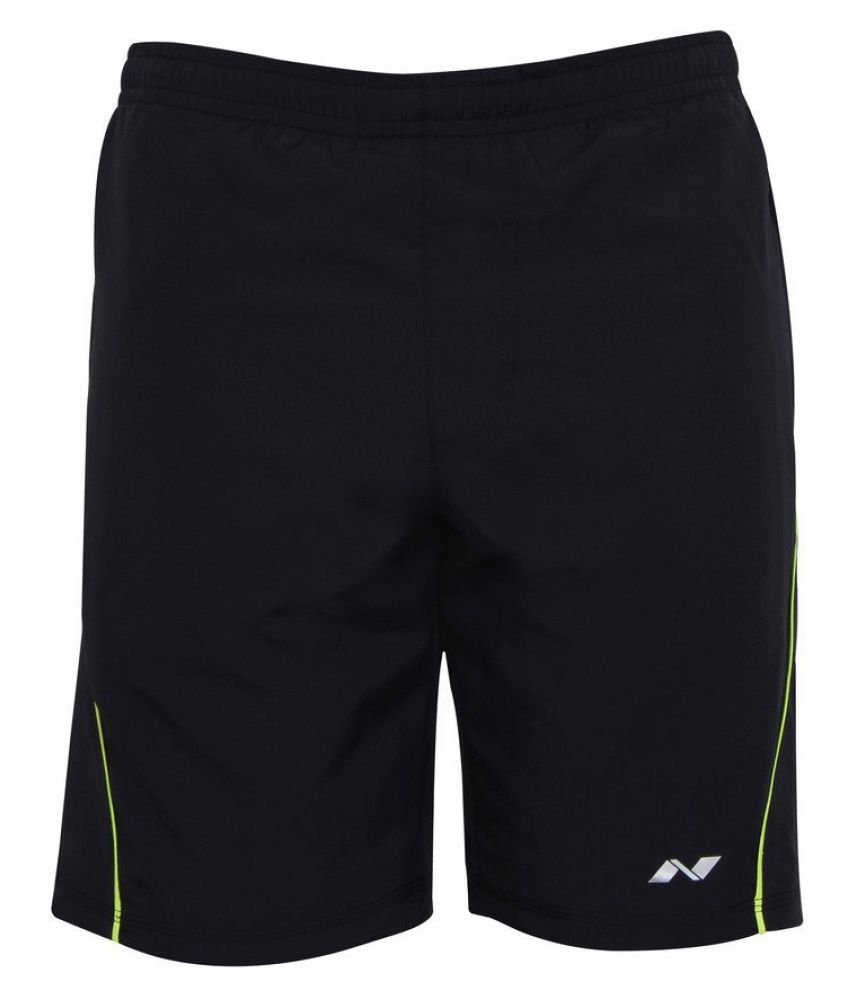 Nivia Black Polyester Running Shorts Single-2036xxl3