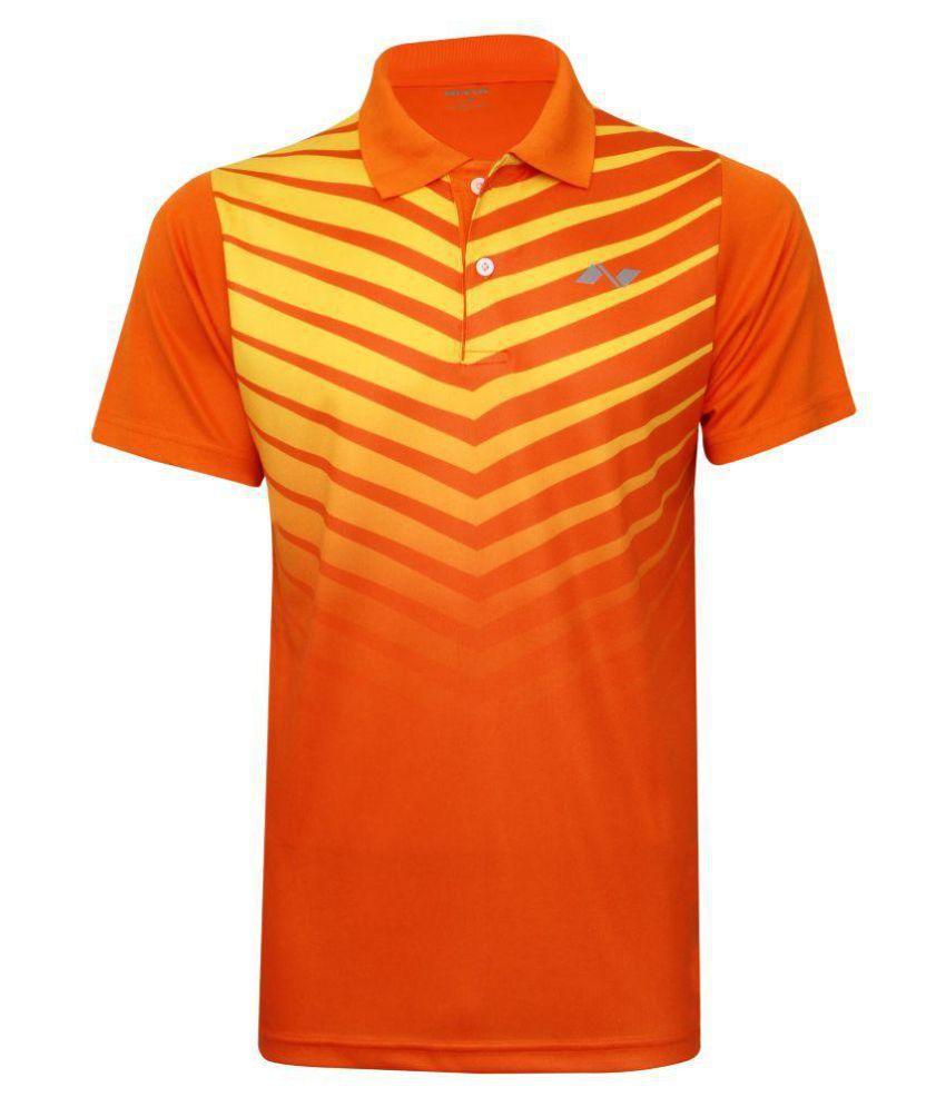 Nivia Gold Polyester Polo T-Shirt-2354XS1