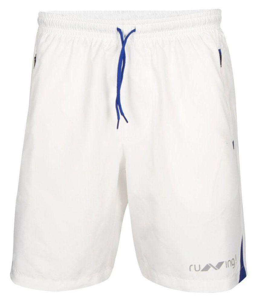 Nivia White Running Shorts-n2037s6