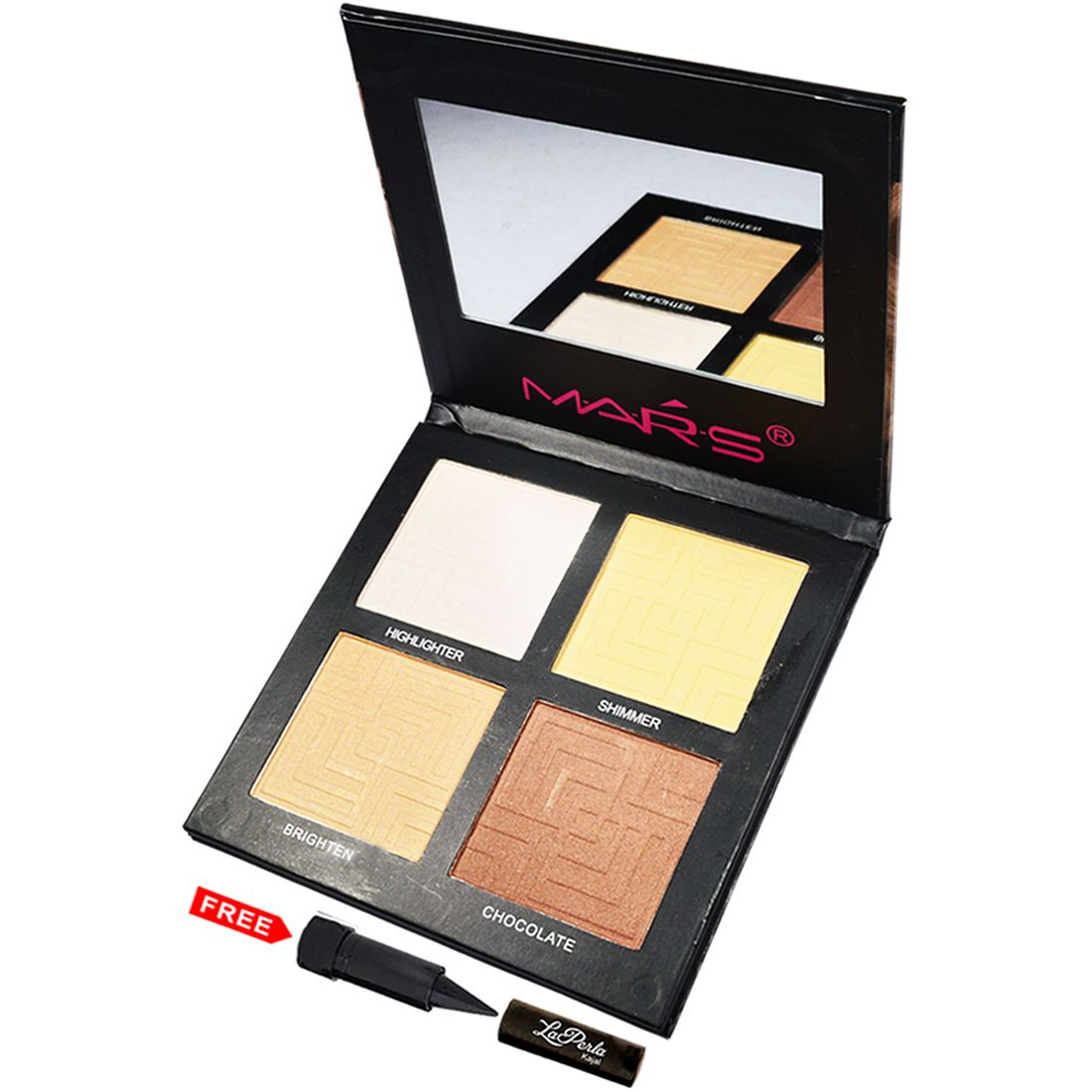 Mars Imported 3D 4in1 Palette-03 Highlighter Multicolor 16 gm