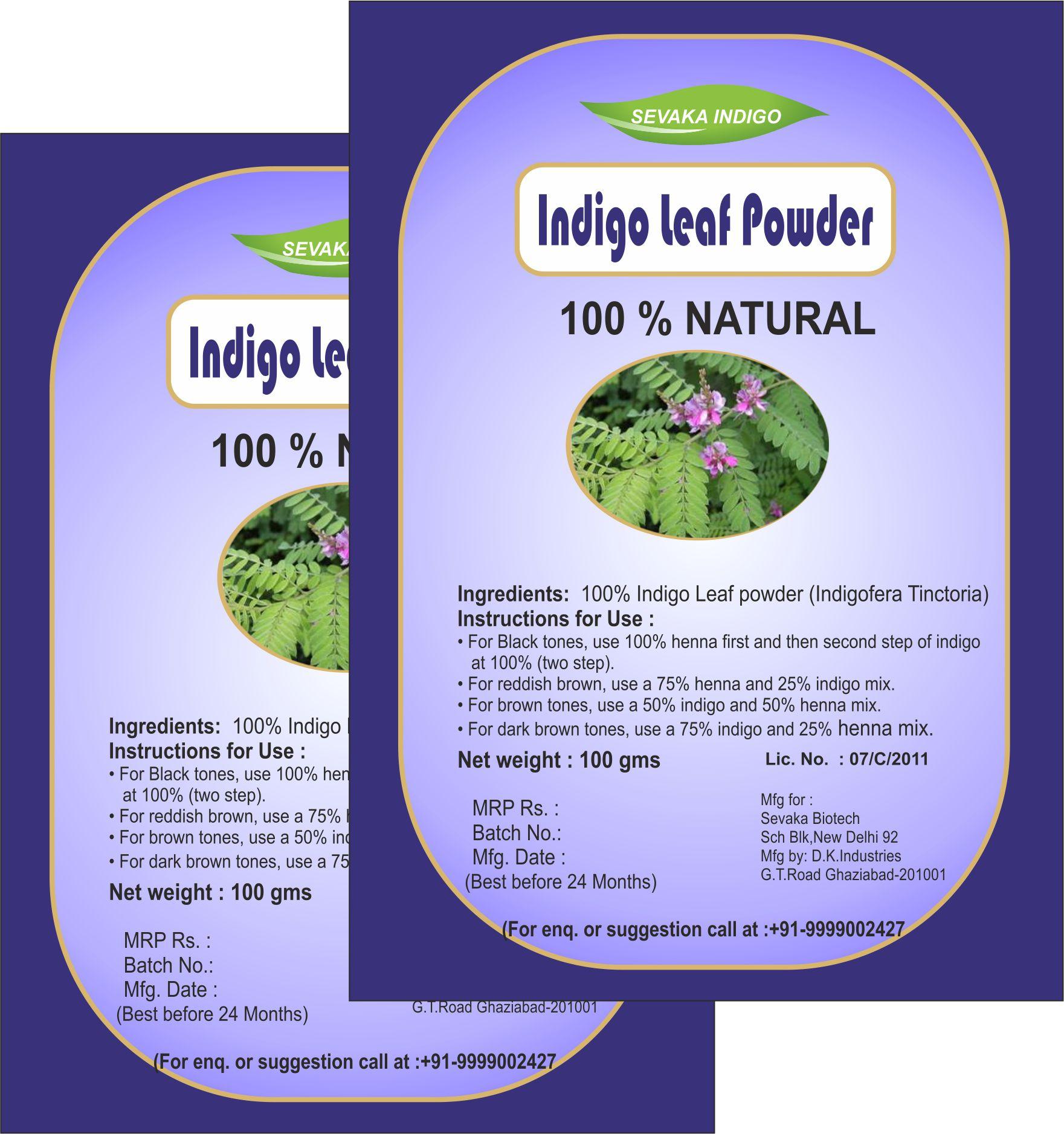 Sevaka Indigo Indigo Powder 200 gm ( 100 gm x 2) Semi Permanent Hair Color Indigo Indigo Powder 200 gm