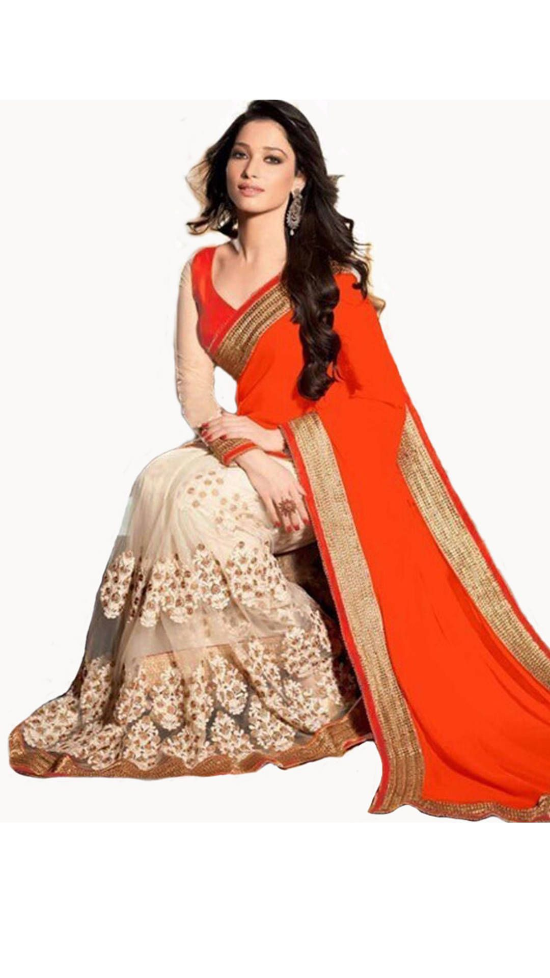 Wkart Multicoloured Georgette Saree