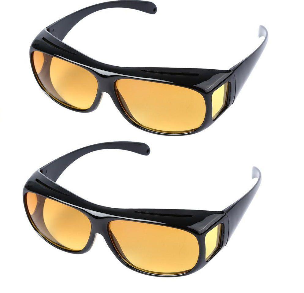 e6c2943e5513 HD Night Driving Wrap Arounds Yellow Color Glasses Yellow Color Glasses  Bike & Car Driving Yellow Color Glasses Set Of 2: Buy HD Night Driving Wrap  Arounds ...
