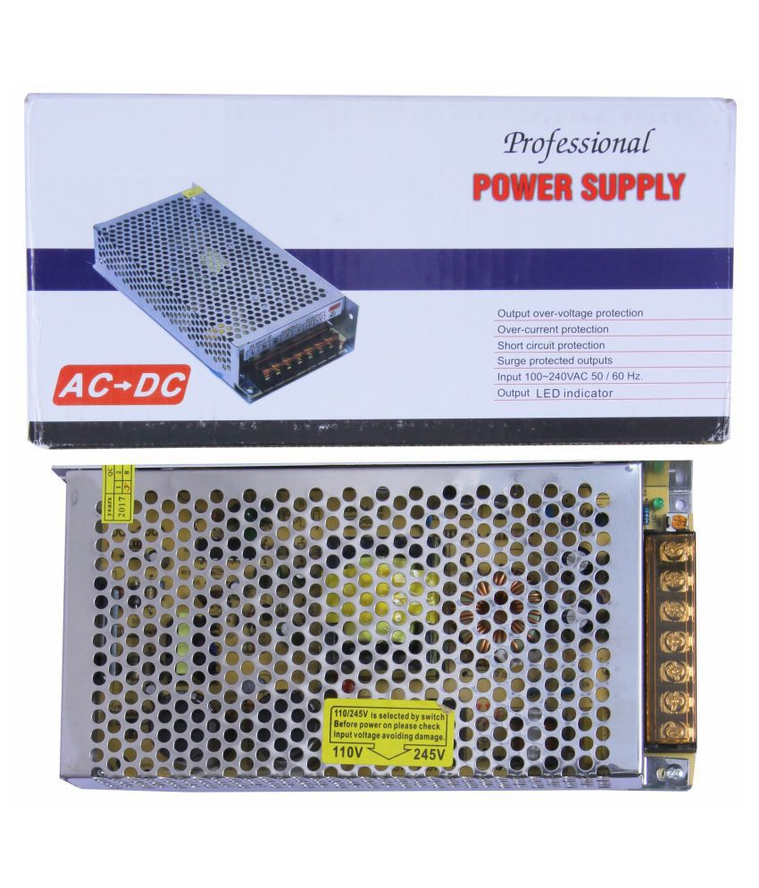 12 Volt 10 Amp 120 Watt DC SMPS Switching Mode Power Supply for CCTV & LED Strip with Metal Case / Aluminum Base
