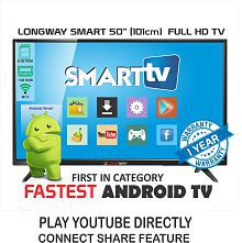 LONGWAY LW-50 126 cm ( 50 ) Smart Full HD (FHD) LED Television With 1+1 Year Extended Warranty