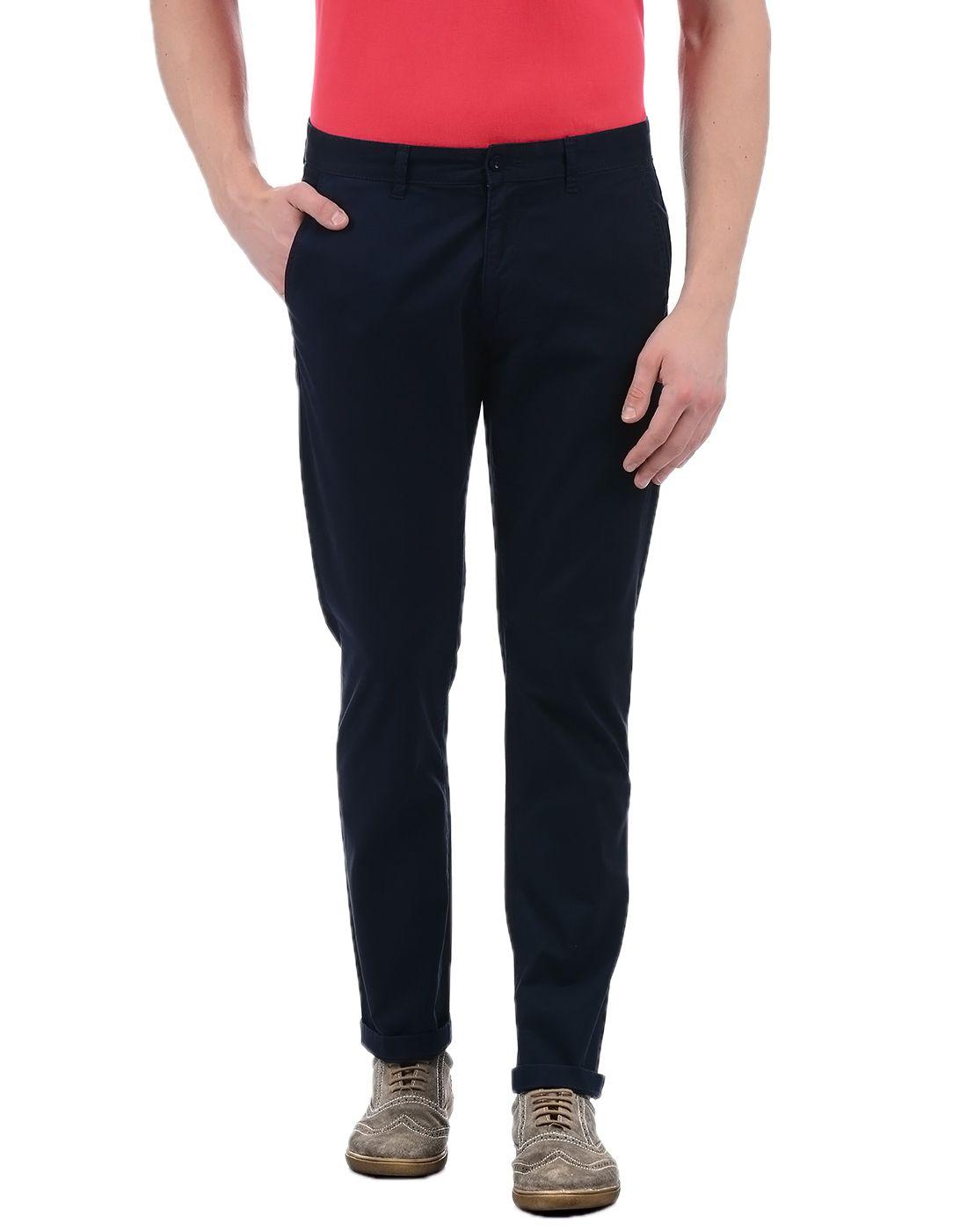 Izod Blue Slim -Fit Flat Chinos