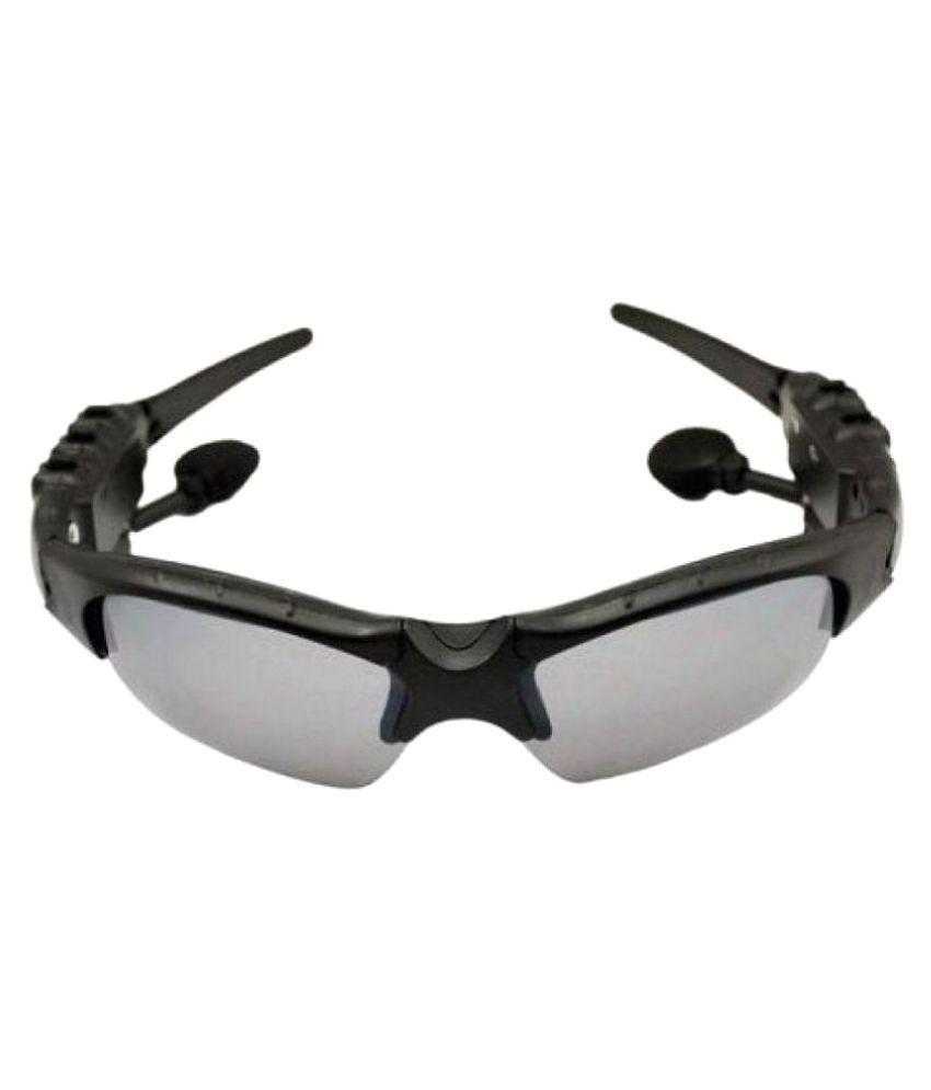 Defloc Grey Wrap Around Sunglasses (  With Bluetooth Connectivity  10006 )