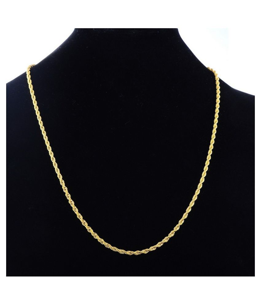 1pc Gold Long Chain Necklace Men Jewelry Male Necklace Gifts