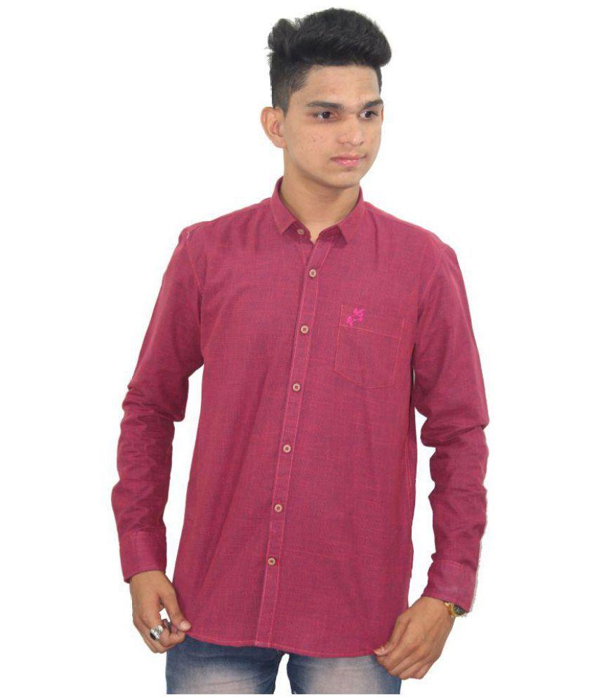 VANGUARD Purple Regular Fit Shirt