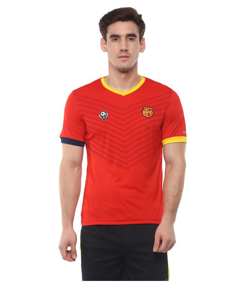 Alcis Spain Red Football Sports Jersey