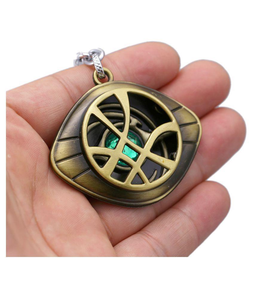 Doctor Strange Keychains Dr.Strange Steve Cosplay Agamotto Eye Pendent Keychain Strange Steve Keyrings
