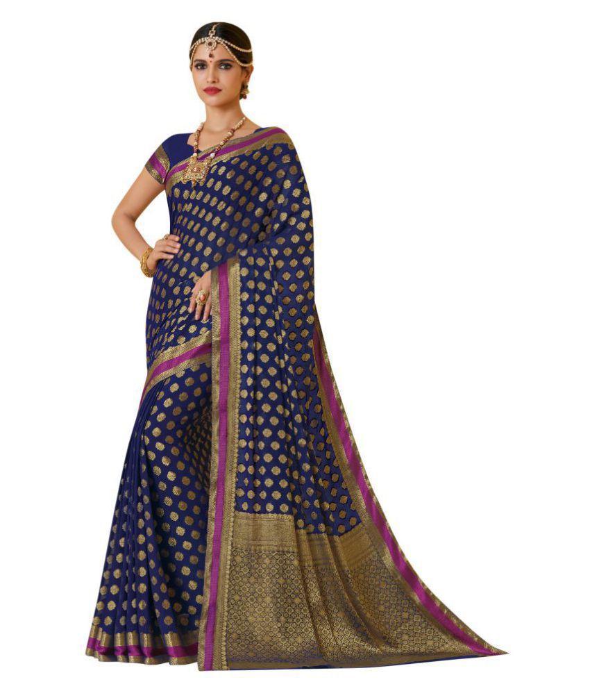 Durga Collection Multicoloured Chiffon Saree