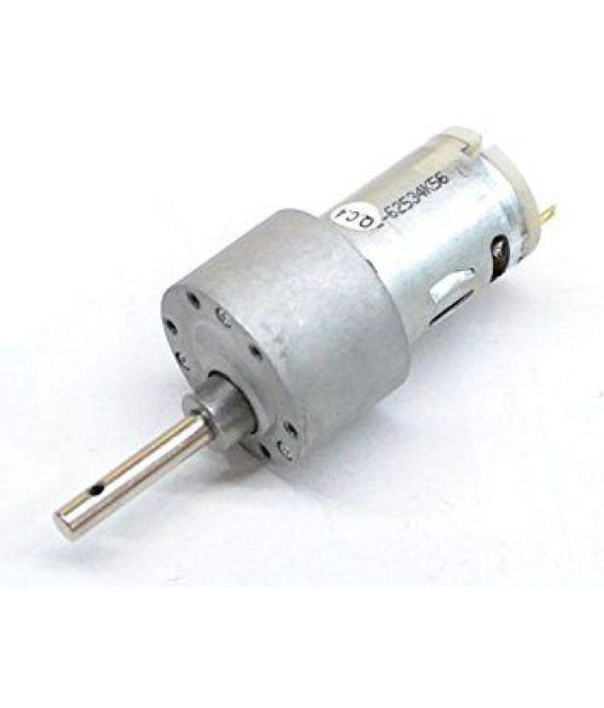 Matlogix Johnson Geared Motor 1000 RPM 12V DC Gear For Robotics/ Robowar  (Long Shaft)