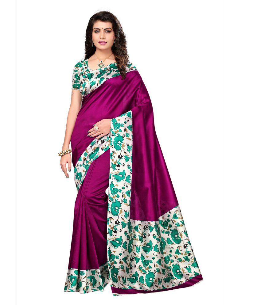 Indian Fashionista Purple Banarasi Silk Saree