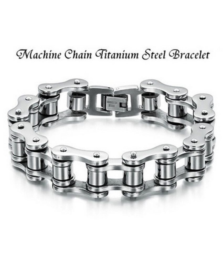 BE Classic Men's Cool Titanium Steel Bracelet Link Chain Wristband Bangle BP (Size: 1)