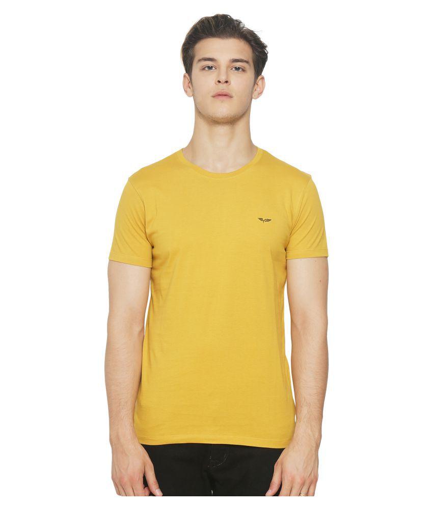 DEFENDER Yellow Round T-Shirt