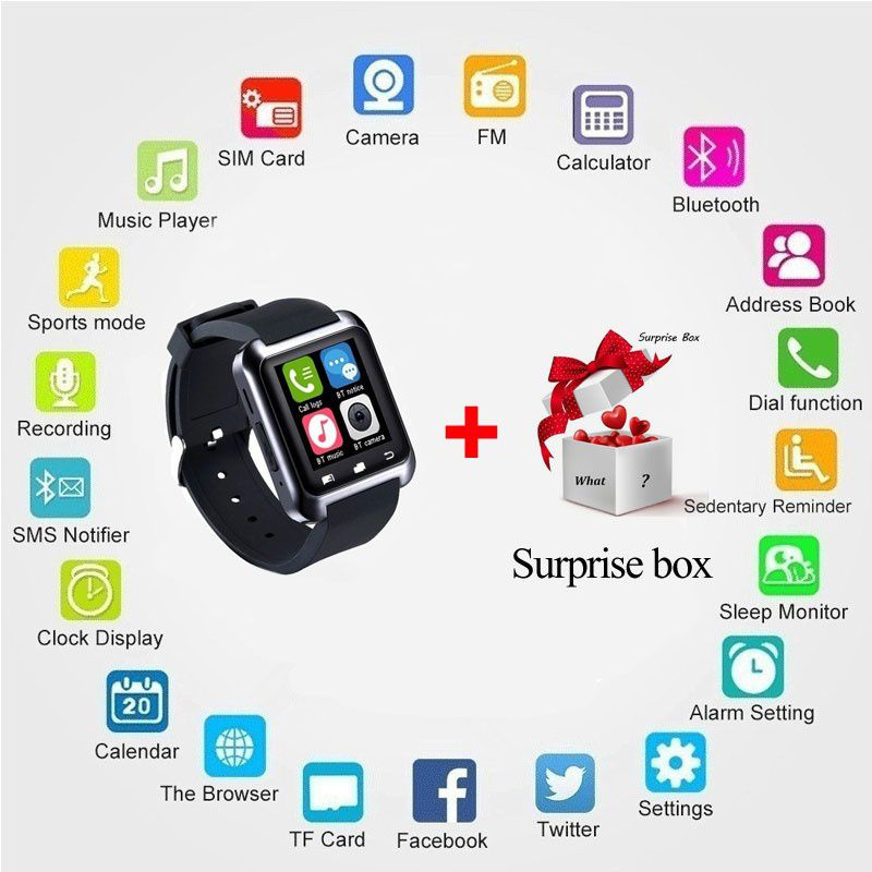 ZXG Smart Watch Smartwatch U80 Bluetooth WristWat Wearable Smart Devices
