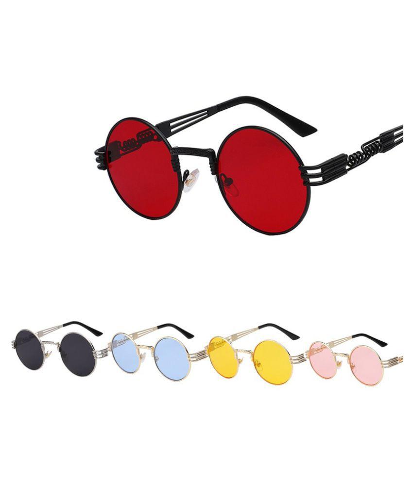 ZXG Yellow Aviator Sunglasses ( Fashion Luxury Metal Sunglasses Men Round Sunglas )