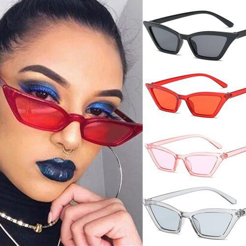 ZXG Multicolor Aviator Sunglasses ( 1PCS Cute Sexy Retro Cat Eye Sunglasses Women Sma )