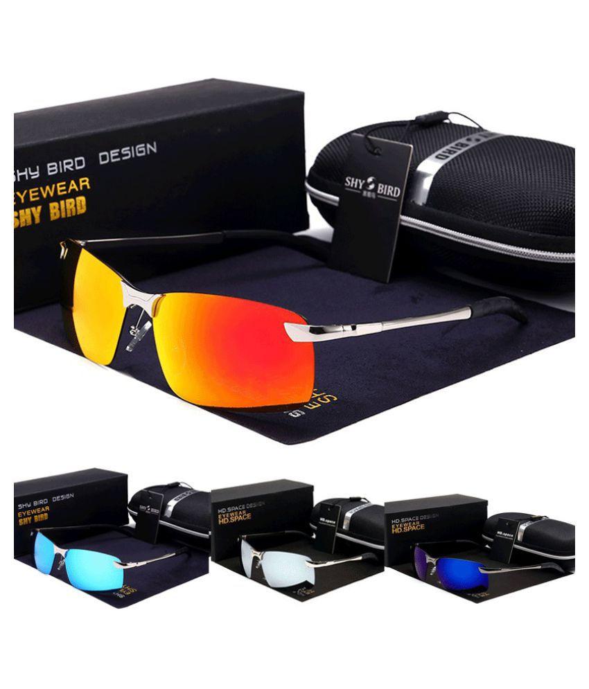 ZXG Multicolor Aviator Sunglasses ( Polarized UV400 Sunglasses Men's Fashion Men Men/ )