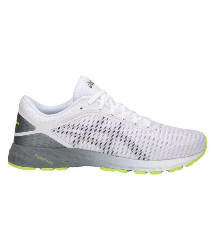 pas mal 8a350 52ba3 Asics DynaFlyte 2 White Running Shoes