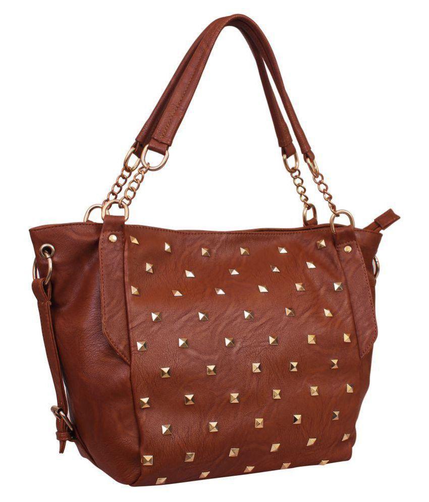 Lychee Bags Rust P.U. Handheld