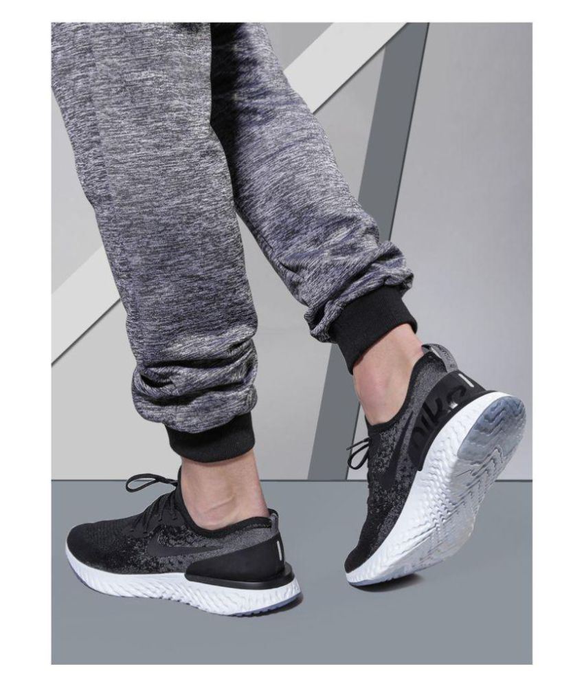 1a2aa2e5f7d Nike EPIC REACT FLYKNIT Black Running Shoes - Buy Nike EPIC REACT ...