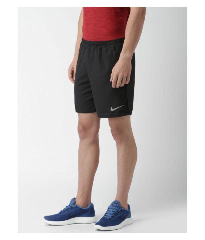 Nike Black Dry Fit Running / Gym wear / Active Wear / Sports wear Shorts