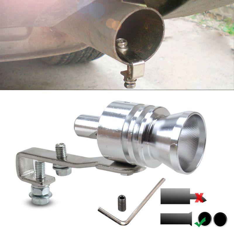 True Vision Car Muffler Tip Turbo Exhaust Whistle - Chrome