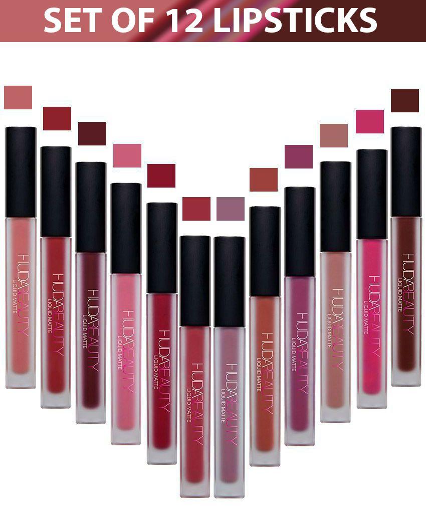 Huda Beauty Matte Liquid Lipstick Set Of 12 Shades: Buy