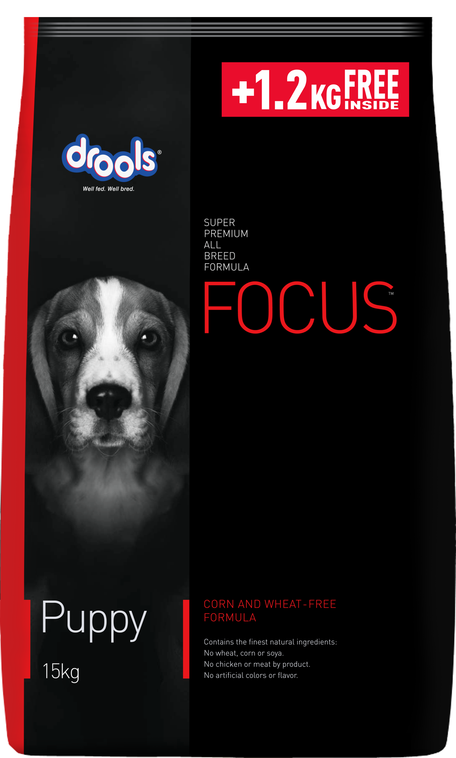 Drools Focus Puppy, Super Premium Dog Food, 12kg