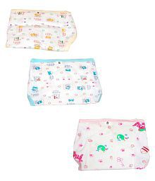 Guru kripa Baby Nappy U Shape Nappies Cotton Diaper Nappy Baby Cozy Wear Assorted Colored Size 0-3 Months to Pack of 3