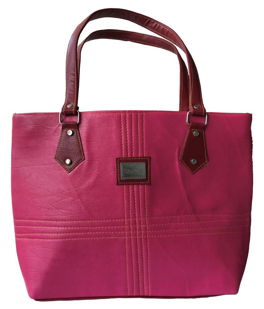 Santalum Pink P.U. Shoulder Bag
