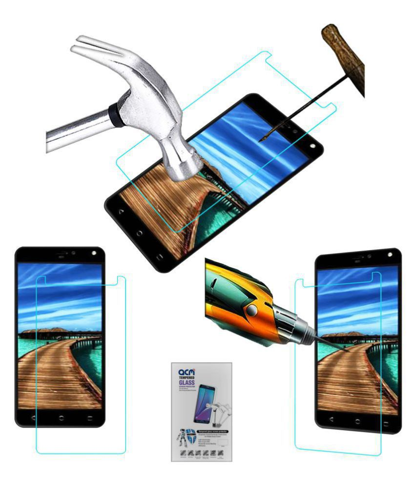 yuho h2 pro tempered glass screen guard by acm rh snapdeal com