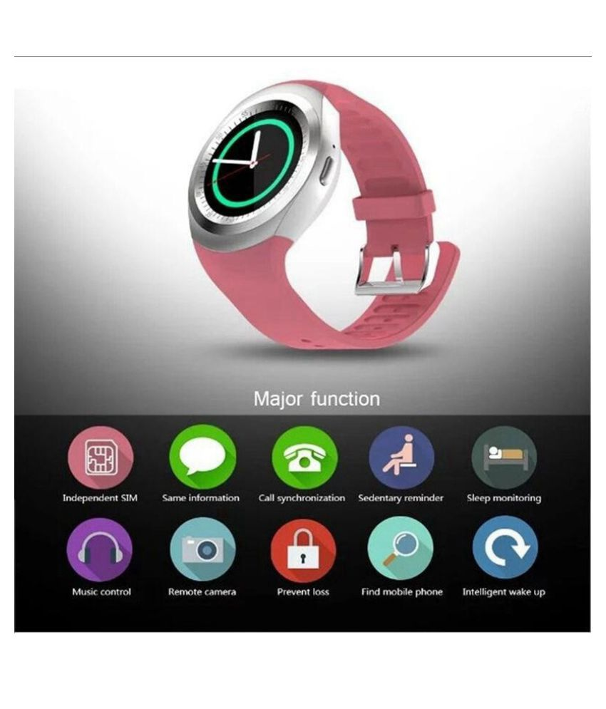 84cd799a6 ... 2018 New Smart Watch Round Support Nano SIM TF Card With Bluetooth 3.0  Men Women Business ...