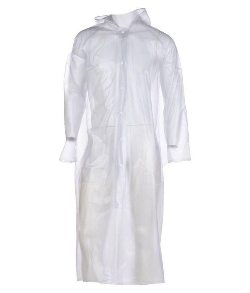ZAINEE CLOTHING PVC Long Raincoat - White