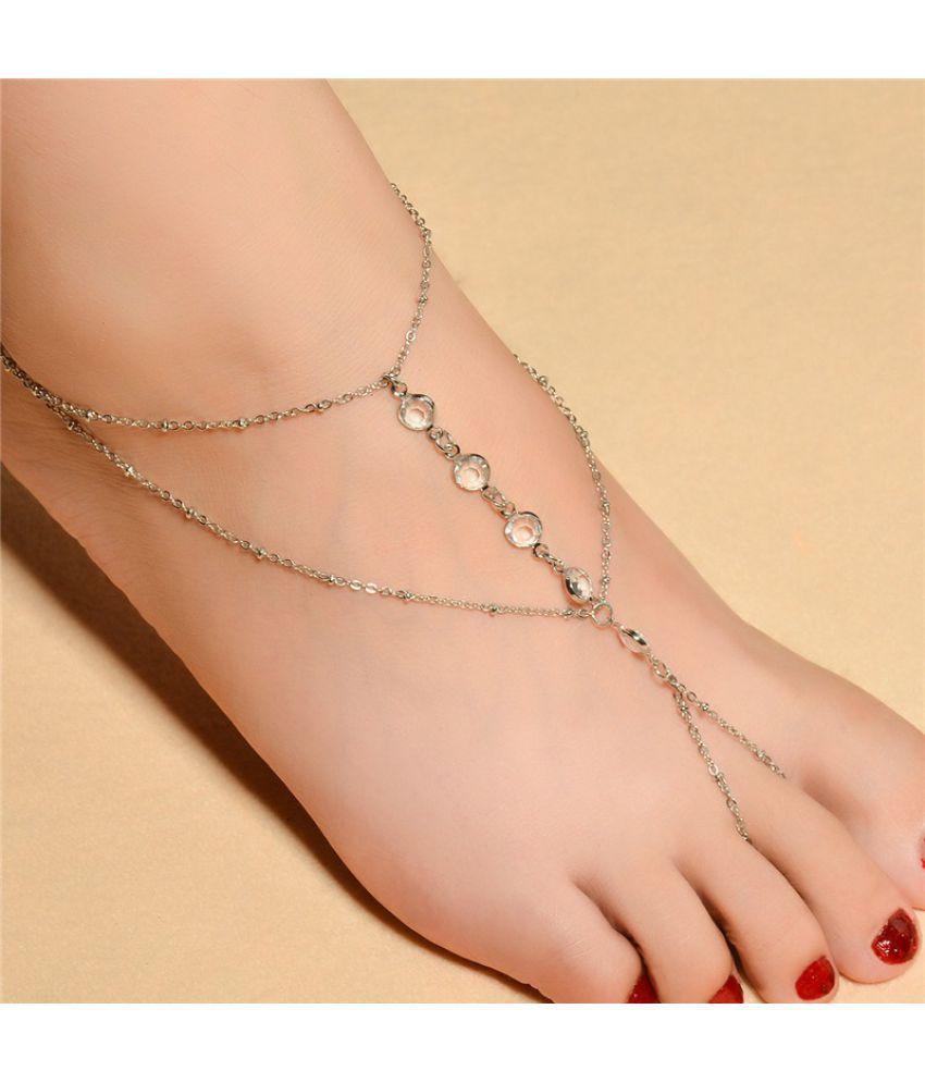 Ankle Bracelet Bohemian Anklets Leg Jewelry Chaine Cheville Tassel Barefoot Sandals Foot Bracelet Hot