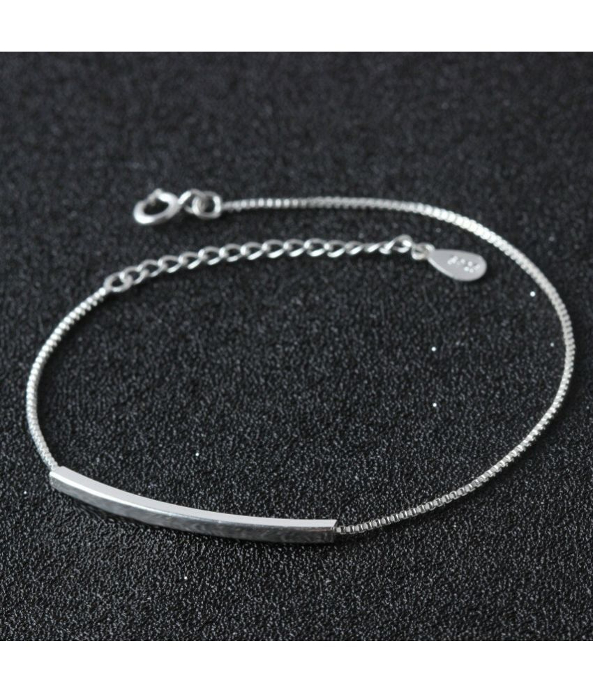 Fashion 925 Sterling Solid Silver chain Bracelet Anklet gift for women