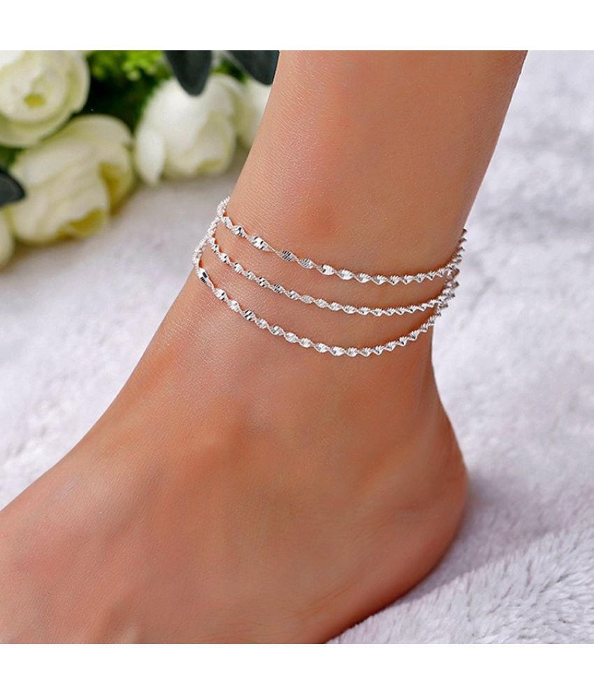 Fashion Fine Sexy Snake Chain Anklets For Wome Multilayer Silver Barefoot Sandals Foot Ankle Bracelet Jewelry