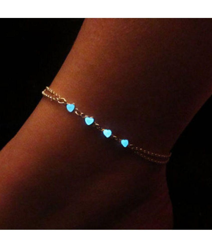 Luminous Ankle Heart/Star Pendant Bracelet Sandal Sexy Beach Leg Chain Women Anklets Jewelry