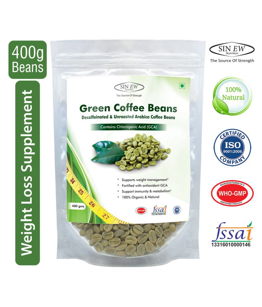 Sinew Green Coffee Beans Decaffeinated/Unroasted Arabica 400 gm Unflavoured
