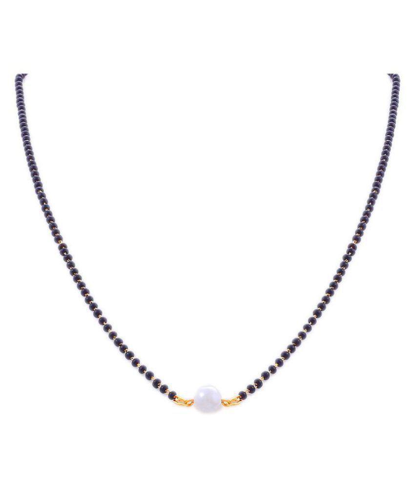 Ankur imitation jewellery  white beads designer mangalsutra for women