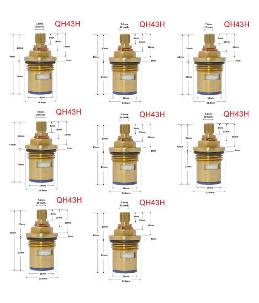 SSS - Internal Tap Disc Material: Brass Size: 15MM Set of 8 pcs
