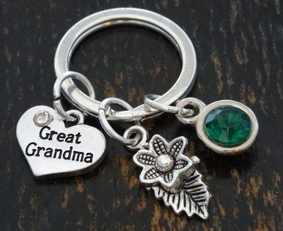 Custom Keychain, Custom Key Ring,Great Grandma Keychain,  Grandma Keychain, Grandma Jewelry, Grandma Gift,Grandma to Be,Personalized Grandma