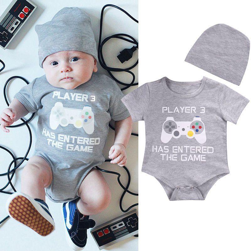 Cute Newborn Infant Baby Boy Girl Cotton Romper Jumpsuit Bodysuit Clothes Outfit