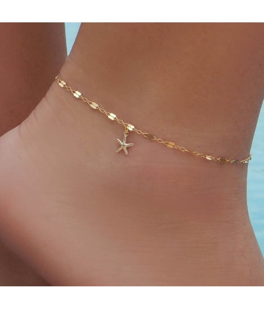 Tobillera cadena de la pulsera pie Chaîne de cheville du pied bohemian luxury foot chain Multilayer gold starfish Anklet beach barefoot sandal Ankle bracelet cute jewelry