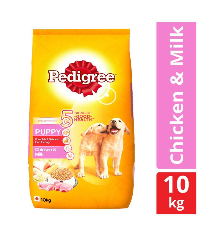 Pedigree Dry Dog Food, Chicken & Milk for Puppy, 10 kg